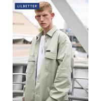 2.5折价:100;Lilbetter长袖衬衫男韩版潮流工装衬衣帅气寸衫港风宽松衬衫外套