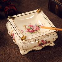 欧式陶瓷烟灰缸大号时尚创意个性家用客厅茶几办公室烟缸复古摆件
