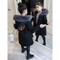 儿童棉衣冬季2018新款韩版中长款洋气中大童棉袄女孩外套棉服