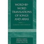 【预订】Word-By-Word Translations of Songs and Arias, Part I: G