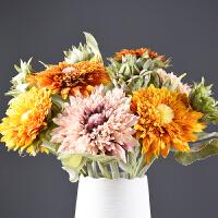 仿真花摆件 仿真向日葵太阳花客厅装饰花瓶插花摆件室内装饰花假花绢花
