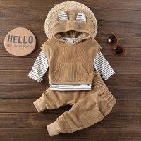童装小童马甲套装春装0宝宝外出服2婴幼儿童三件套1-3岁男童衣服
