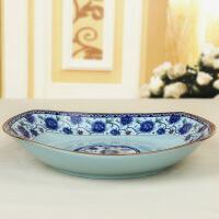 陶瓷青古瓷4.5/5寸家用中式高脚吃饭碗面碗套装青花瓷餐具