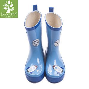kocotree儿童雨鞋防滑儿童雨靴环保橡胶男童女童雨鞋小孩水鞋宝宝雨鞋