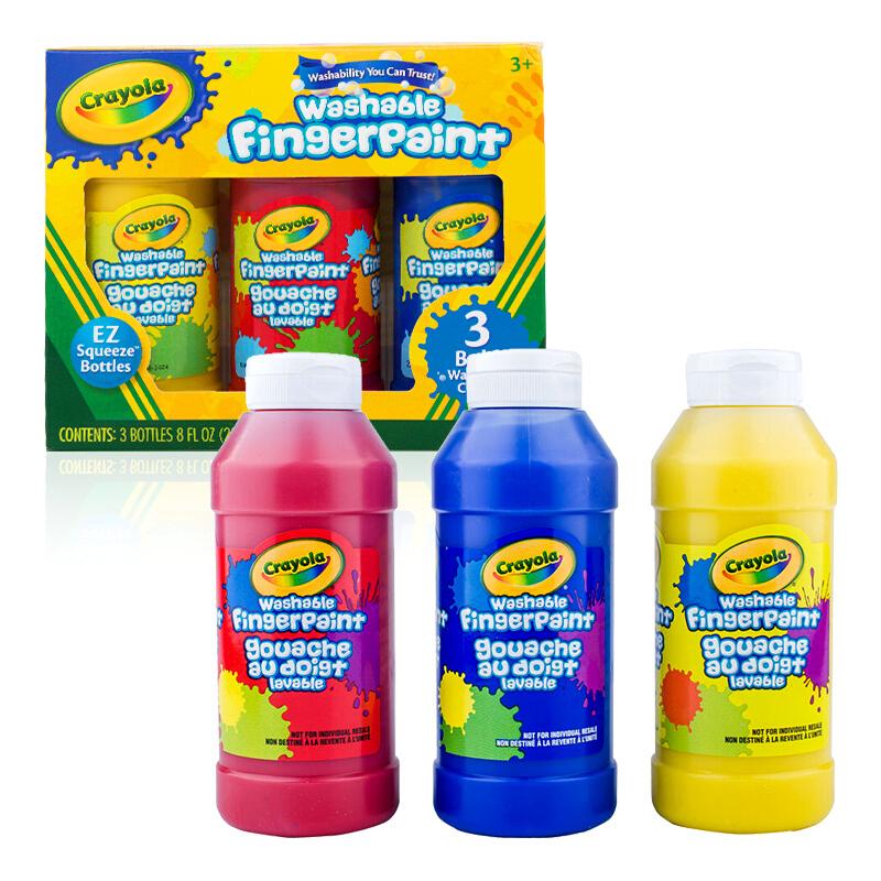 Crayola绘儿乐 55-1310 可水洗3色手指画颜料(经典色) 当当自营