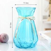 花瓶玻璃花瓶摆件干花仿真花绿萝富贵竹插花瓶透明彩色大小号客厅
