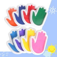 幼儿园手指画印泥儿童掌形绘画DIY涂鸦手掌画彩色颜料可水洗