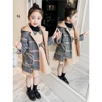 儿童秋冬季套装2018新款洋气韩版中大童两件套女孩棉服