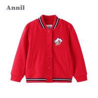 【2件5折:234.5】中式绣花安奈儿女童夹克外套鼠年红2020新款中国风外套新年装春款