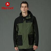 Marmot/土拨鼠2021春季新款户外运动男士防泼水戈尔舒适保暖冲锋衣