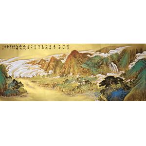 中国美协会员,中国书协会员,龙云书画院院长侯桂峰(金画古诗)2