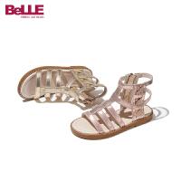 【券后价:163.9元】百丽童鞋女童凉鞋公主2021夏季新款儿童防滑软底鞋子小女孩休闲鞋