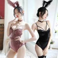 情趣内衣骚学生欧美性感连体开档火辣诱惑兔女郎衣服制服激情套装