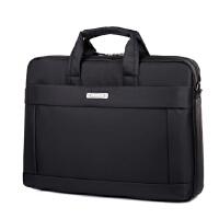 笔记本电脑包适用戴尔华硕苹果单肩手提女男14寸15.6寸18寸 黑色标准版 17寸