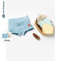 【2件4折】迷你巴拉巴拉儿童内裤2020春装男童宝宝平角裤两条装卡通四角裤