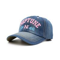 帽子女春天棒球帽韩版鸭舌帽女士情侣户外牛仔帽夏字母遮阳太阳帽 粉色 可调节