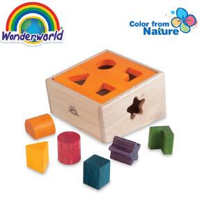 [当当自营]泰国Wonderworld 形状分类 宝宝智力玩具早教 立体几何形状认知盒