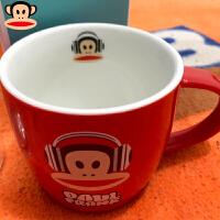 马克杯经典简约咖啡杯陶瓷水杯牛奶杯卡通杯子 红色