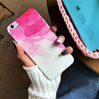 墨水彩绘苹果x手机壳硅胶女款iphone7/8plus手机壳ins简约6s软壳