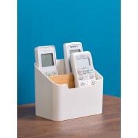 桌面遥控器收纳盒办公室桌上分格文具盒子塑料化妆品整理盒