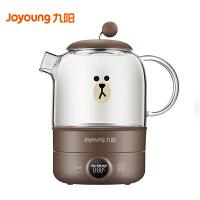 九阳(Joyoung)养生壶家用多功能全自动mini玻璃花茶壶 LINE联名款 K08-D601(棕)
