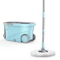 拖把杆旋转通用免手洗拖把桶自动甩水懒人拖把布