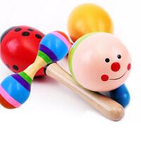 哗铃棒 摇铃棒幼儿园早操沙锤沙球婴儿童玩具打击乐器新生儿手抓训练