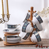 欧式茶具骨瓷英式下午茶茶具套装杯架咖啡杯套装咖啡套具