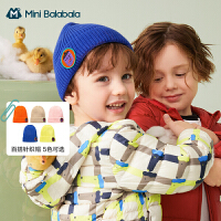【99元任�x3件:33元】迷你巴拉巴拉�和�帽子2020秋新�胗�和�馐孢m防�衩�游镌煨涂��