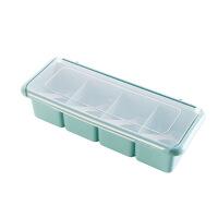 素雅色调味盒塑料调味罐套装厨房味精盐罐调料罐调味料盒