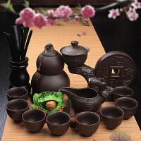 茂盛茶具陶瓷懒人石磨全半自动紫砂茶壶套装功夫创意泡茶器家用