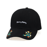 夏季新款女士遮阳帽子 字母刺绣花朵棒球帽 学生时尚 可调节