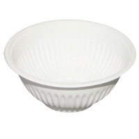 家用一次性碗加厚可降解玉米淀粉环保碗烧烤餐具一次性碗筷100只 白色