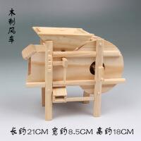 竹木工艺品竹制摆设木制模型风车婚庆礼品仿真办公桌摆件