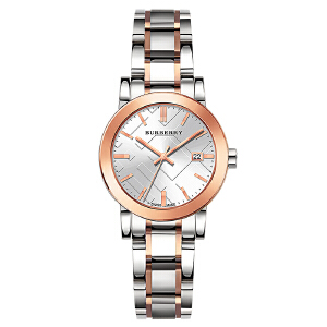 巴宝莉 女士 BURBERRY 典格子时尚优雅气质型 超薄玫瑰金石英女士手表BU9105 全国联保