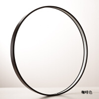 相框摆台铝合金圆形空框线条金属拉丝简约装饰画框镜子外框相框型材