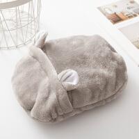 日本汤婆子热水袋简约可爱毛绒套可拆洗冲水暖手宝注水充水暖手袋