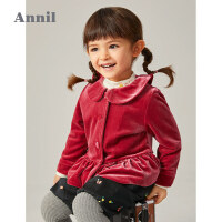 【2件3折价:101.7】安奈儿童装女小童外套复古风2020新款洋气秋冬加厚密丝绒宝宝外套