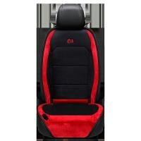 汽车加热坐垫冬季座垫 汽车加热坐垫冬季单双座椅车载电加热短毛绒座垫12V车用保暖座套
