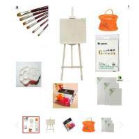 马利颜料套装24色 36色水粉画颜料 画笔 画架 画板