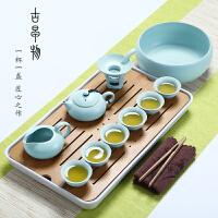 陶瓷功夫茶具套装家用便携茶杯茶壶盖碗茶盘