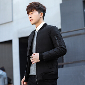 男士羽绒服2018新款短款修身棒球领男款冬装轻薄韩版男装外套冬季