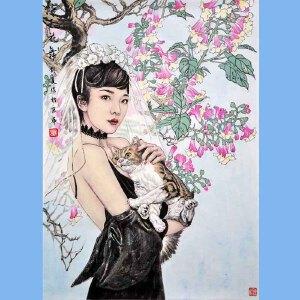 中国美协会员,中国国家机关美术协会会员,中国女画家协会会员刘夏(花舞)21