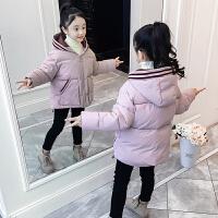 儿童棉服冬季2018新款洋气短款面包服中大童加厚外套女孩