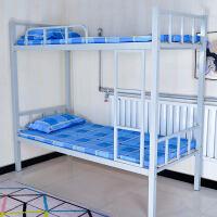 钢架高低床 上下铺铁床双层床床学生高低床铁艺床员工宿舍床单人床铁架床 50方管 壁厚1.2 赠复合多层床板2张 其他