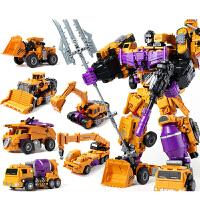 变形大力金刚 变形金刚 合体 模型工程车机器人大力神战甲男儿童合体汽车人玩具