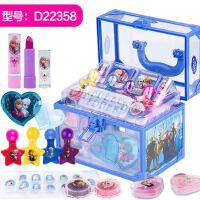 迪士尼化妆盒儿童化妆品 公主彩妆盒套装口红女童小女孩玩具3-6岁
