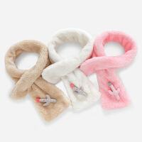 秋冬婴儿脖套0-3岁女童围脖毛绒保暖儿童冬装小童加绒女宝宝围巾