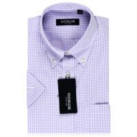 Youngor/雅戈尔商务正装男夏NP紫色免烫短袖衬衫SNP12127KKA