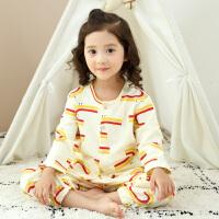 儿童睡衣男童女童纯棉长袖家居服套装春秋季宝宝全棉两件套男女孩